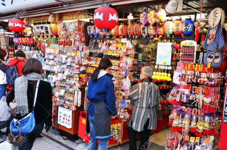 13162133-Tokyo-Japan-31-December-2011-Religious-objects-displayed-in-bazaar-at-Sensoji-temple-market-in-Asaku-Stock-Photo