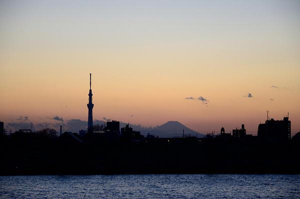 melihat fuji dari tokyo sky tree