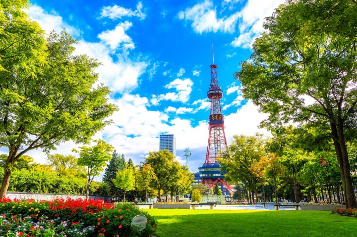 Sapporo, Japan -  9 September 2016 - Television tower