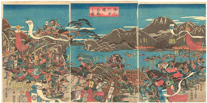 ilustrasi battle of kawanakajima